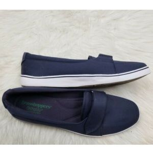 Grasshoppers Ortholite Navy Platform Loafer